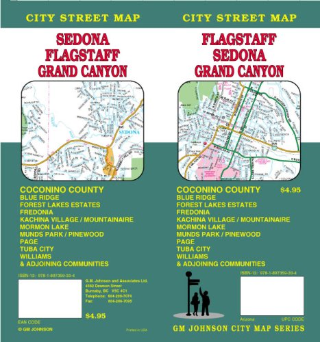 9781897359334: Flagstaff / Sedona / Grand Canyon AZ Street Map