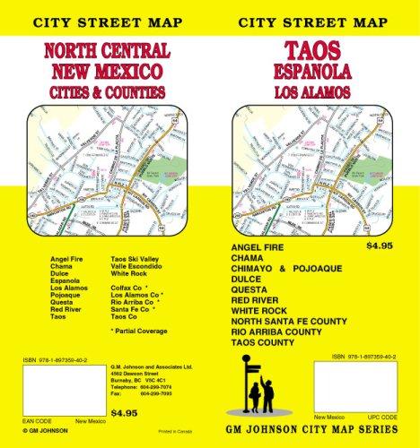 9781897359402: Taos, New Mexico / Los Alamos / Espanola / North Central NM Street Map
