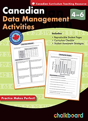 9781897514115: Canadian Data Management Activities Grades 4-6