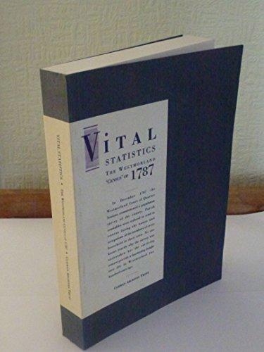9781897590003: Vital Statistics: Westmorland Census of 1787