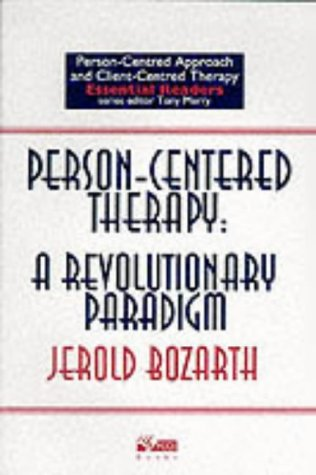 9781898059226: Person-Centered Therapy: a Revolutionary Paradigm (Person-centred approach & client-centred therapy essential readers)
