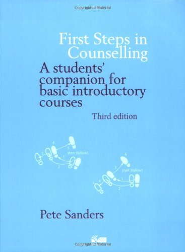 9781898059516: First Steps in Counselling