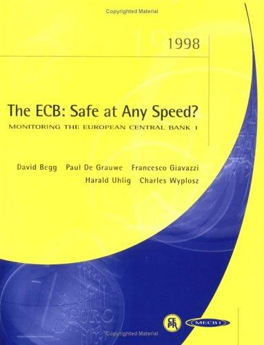 9781898128397: Monitoring the European Central Bank: Report No. 1