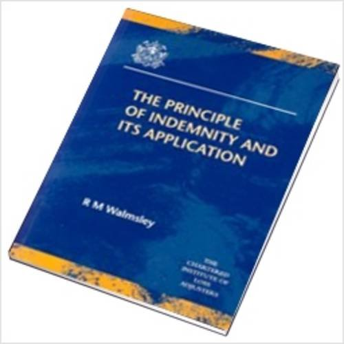 9781898195054: The Principle of Indemnity and Its Application