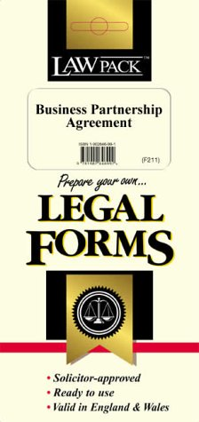 9781898217473: Business Partnership Agreement (Legal Form Packs)