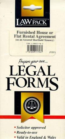 9781898217961: Furnished House or Flat Rental Agreement (Legal Form Packs)