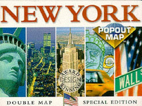 9781898277538: New York Popout Map: Double Edition, Manhattan Maps (Inside Out City Guides)