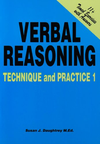 9781898696469: Verbal Reasoning Technique and Practice: Volume 1