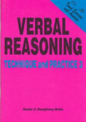 9781898696735: Verbal Reasoning: Technique and Practice No. 3
