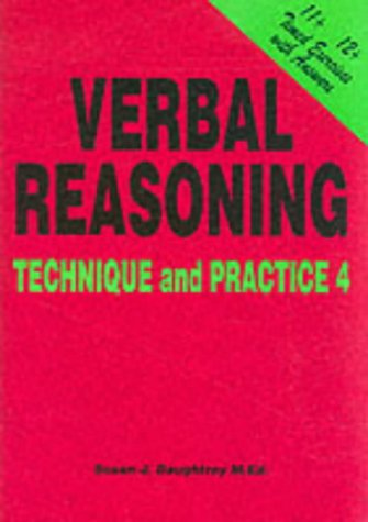9781898696780: Verbal Reasoning: Technique and Practice No. 4