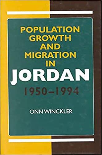 Population Growth and Migration in Jordan, 1950-1994 (Hardback): Onn Winckler, Onn Winkler