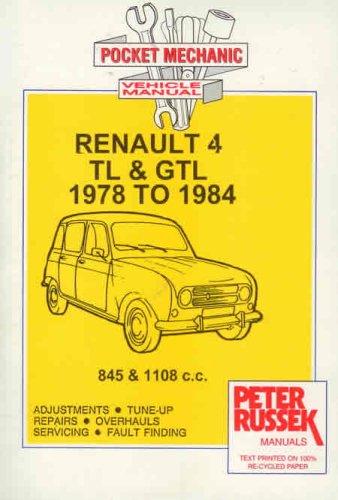 9781898780656: Pocket Mechanic for Renault 4TL and 4 GTL 845 and 1108 C.C. Engine, to 1984 (Pocket Mechanic)