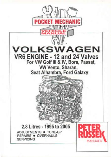 9781898780816: Pocket Mechanic for Volkswagen VR6 Engine, 2.8 Litre, 12 and 24 Valves VW Golf III/IV, Bora, Passat, Vento, Sharan Seat Alhambra, Ford Galaxy