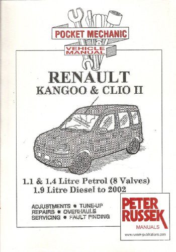 9781898780991: Pocket Mechanic for Renault Kangoo and Clio,1.1 and 1.4 Litre Petrol Engine to 2002