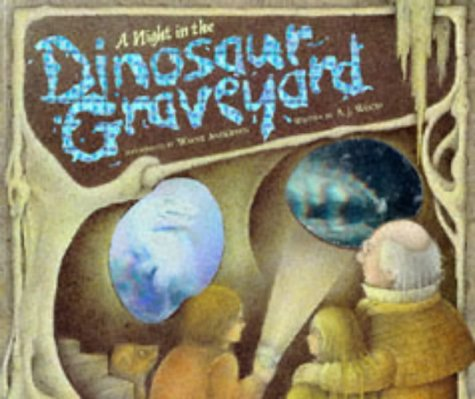 9781898784036: Night in the Dinosaur Graveyard, A: A Prehistoric Ghost Story with Ten Spooky Holograms