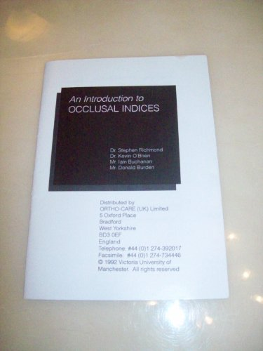 9781898922001: Introduction to Occlusal Indices