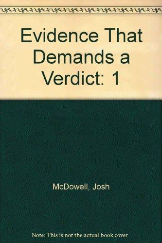 9781898938620: Evidence That Demands a Verdict: 1