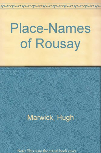 9781899851003: Place-Names of Rousay