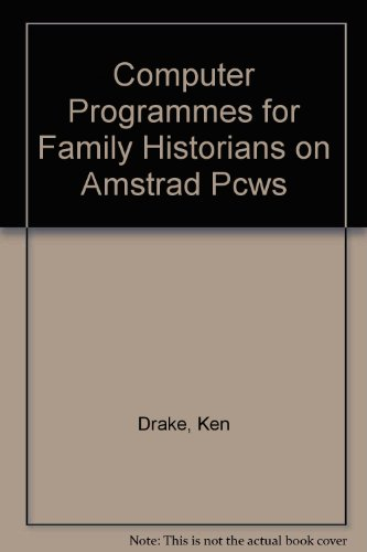9781900033053: Computer Programmes for Family Historians on Amstrad Pcws