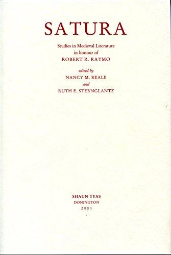 Satura: Studies in Medieval Literature in Honour of Robert R.Raymo: n/a