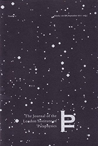 9781900565547: PTYXIS (Journal of the London Institute of Pataphysics)