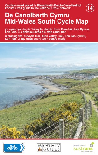 Mid Wales South Cycle Map: Sustrans