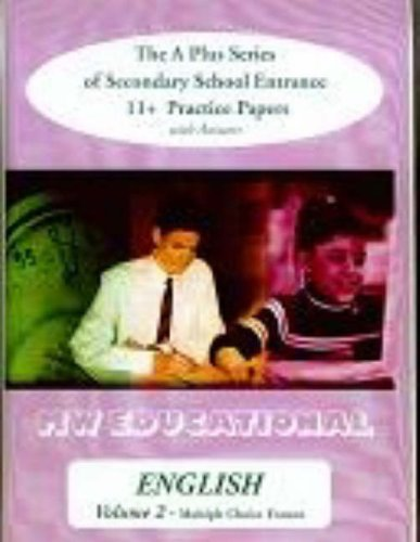 9781901146585: English (Multiple Choice Format): v. 2: The A Plus Series of Secondary School Entrance 11+ Practice Papers (with Answers) (A Plus English)