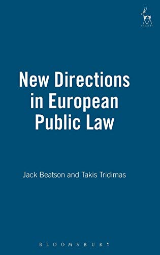 9781901362244: New Directions in European Public Law