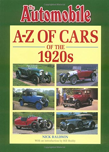 9781901432091: A-Z of Cars of the 1920s