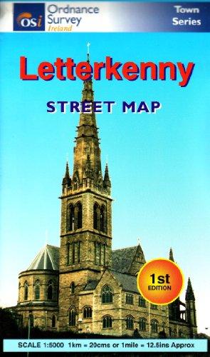 Os Map Of Ireland.9781901496048 Letterkenny Street Map Os Irish Street Maps