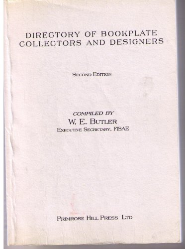 9781901648188: Directory of Bookplate Designers and Collectors