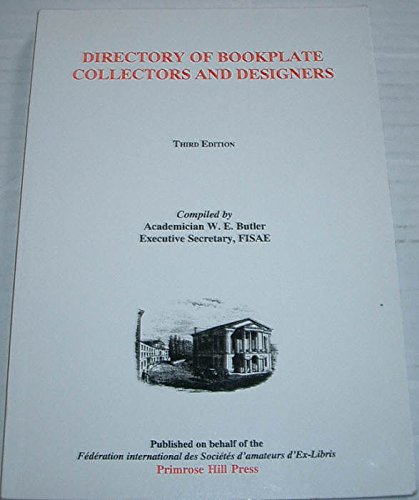 9781901648263: DIRECTORY OF BOOKPLATE COLLECTORS AND DESIGNERS - Third Edition