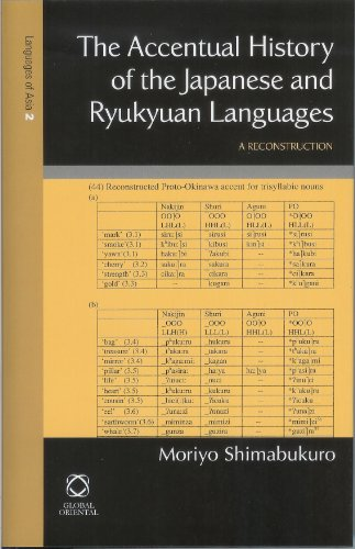 9781901903638: The Accentual History of the Japanese and Ryukyuan Languages (Languages of Northern and Central Eurasia)