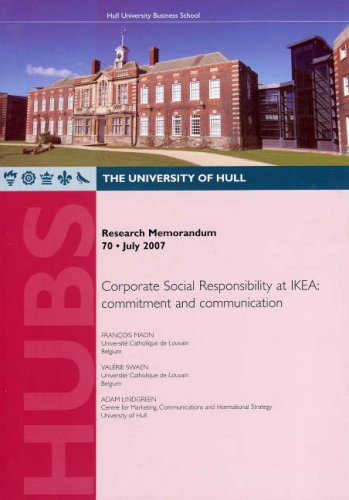 9781902034669: Corporate Social Responsibility at IKEA: Commitment and Communication (Research Memorandum)