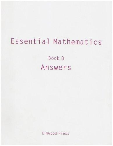 Essential Mathematics: Answers Bk. 8: David Rayner