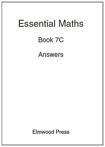 9781902214832: Essential Maths Book 7c Answers (Bk. 7C)