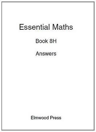 9781902214856: Essential Maths Book 8H Answers