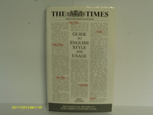 9781902254135: The Times Guide to English Style and Usage: The Essential Reference for Correct English Usage