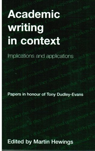 9781902459264: Academic Writing in Context: Implications and Applications