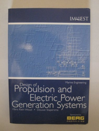 Design of Propulsion and Electric Power Generation: Woud, Hans Klein