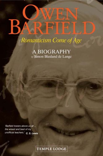 9781902636771: Owen Barfield: Romanticism Come of Age