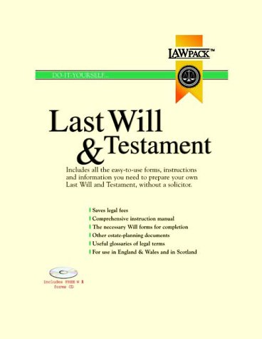 9781902646220: Last Will and Testament Kit (Will & Testament)