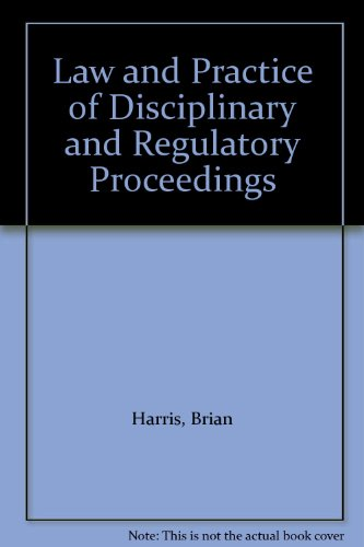 9781902681122: Law and Practice of Disciplinary and Regulatory Proceedings