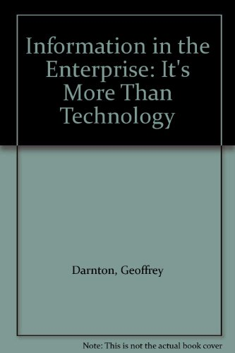 9781902755014: Information in the Enterprise: It's More Than Technology