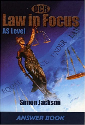 9781902796444: OCR Law in Focus: AS Level Answer Book