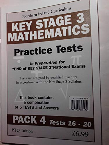 Key Stage 3 Maths Tests Pack 4 (Tests 16-20) (1902858107) by Pat Quinn