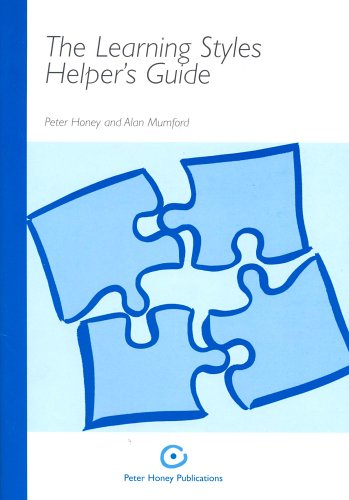 9781902899107: The Learning Styles Helper's Guide