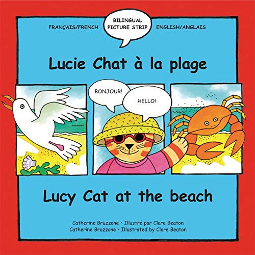 9781902915388: Lucy Cat at the Beach: Lucie Chat a La Plage