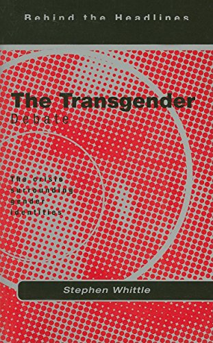 The Transgender Debate (1902932161) by Stephen Whittle