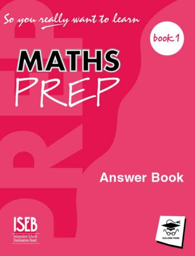 9781902984193: So You Really Want to Learn: Maths Prep Book 1: Answer Book